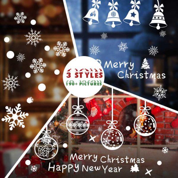 Christmas Window Decals.Hommie Window Stickers Window Cling Stickers Seasonal