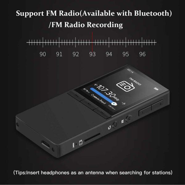 HD Blu-Ray Screen Bluetooth MP3 Player HIFI Lossless Music Metallic