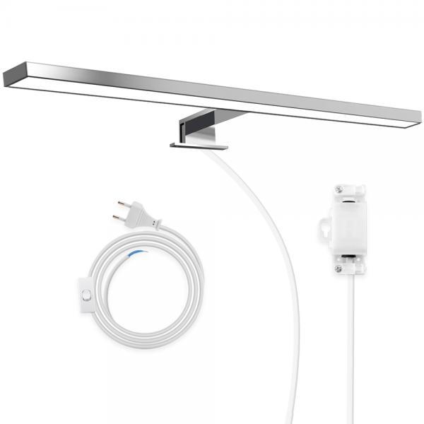 Hommie Bathroom Led Mirror Light Waterproof Ip44 Led Mirror Lamp With Power Cord Wireless Switch 8w 23 6in Bathroom Vanity Lighting Natural White 4000k 600lm Bath Mirror Make Up Lamps Wall Lights Hommie